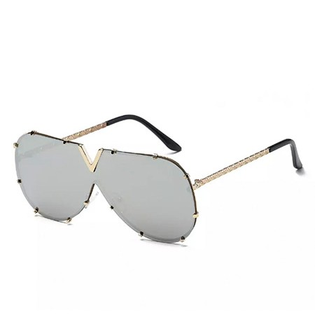 Gold V Sunglasses