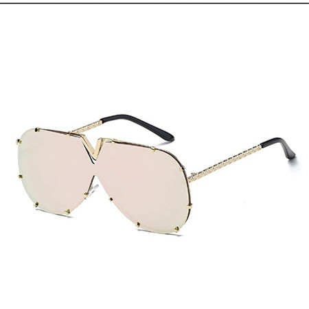 Rose Gold V Sunglasses