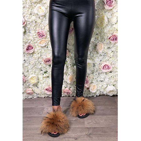 PU Leather Look Leggings
