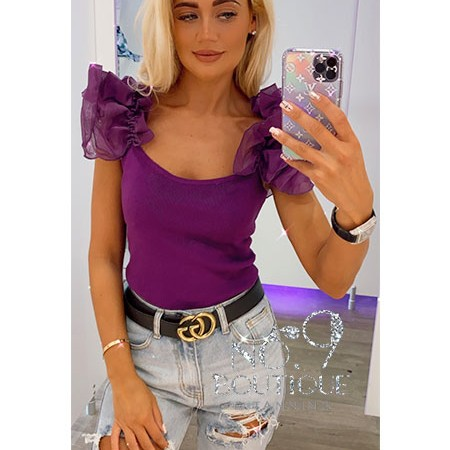 Frilly Bow Back Top
