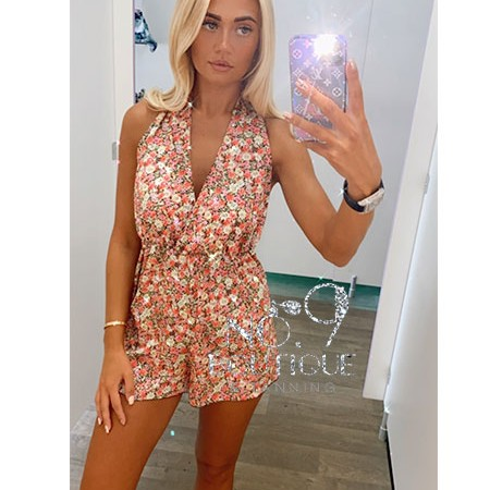 Pink Flower Playsuit