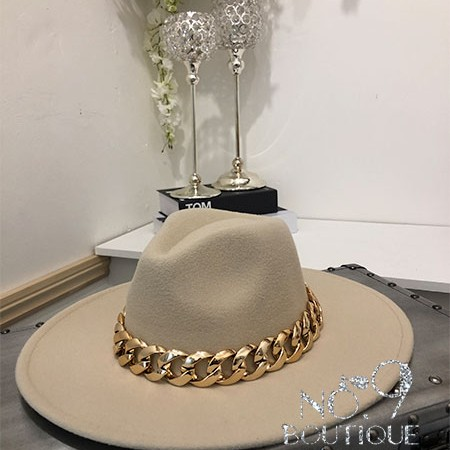 Chain Trilby Hat