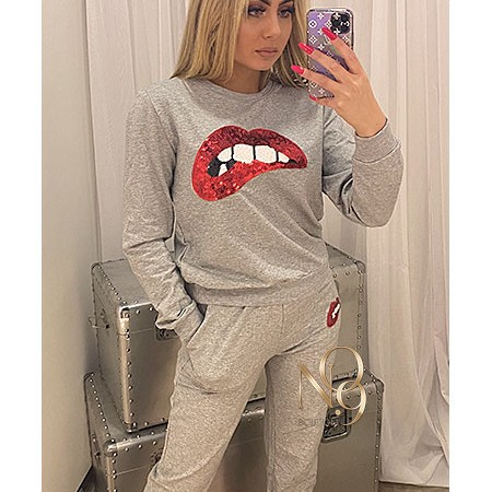Sequin Lips Tracksuit