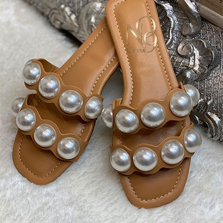 Pearl Double Strap Sandals
